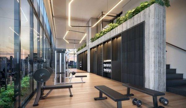 Ilustração Artística do Fitness Center da Torre A - Araucaria